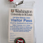 2004 Debate Visitor Pass