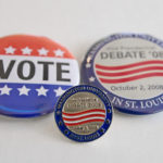 Debate pins and buttons