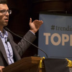 Ezra Klein addresses students in Graham Chapel.